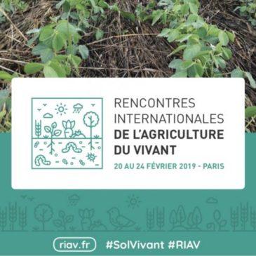 Suivez en direct les Rencontres Internationales de l'Agriculture du Vivant!   20 au 24 février